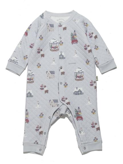 【BABY】ウィンター baby ロンパース(BLU-70)