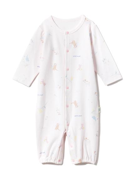 【BABY】【新生児】アニマルバスタイム2wayオール(PNK-50)