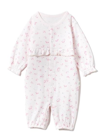 【BABY】【新生児】フラワースワン2wayオール