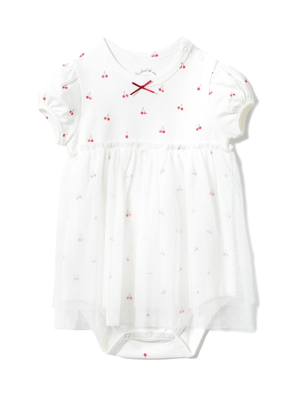 【BABY】チェリーチュールbabyロンパース(OWHT-70)