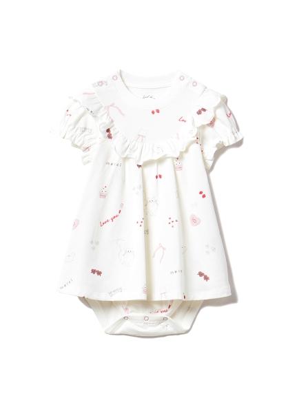 【BABY】ガールズモチーフ baby ロンパース(OWHT-70)