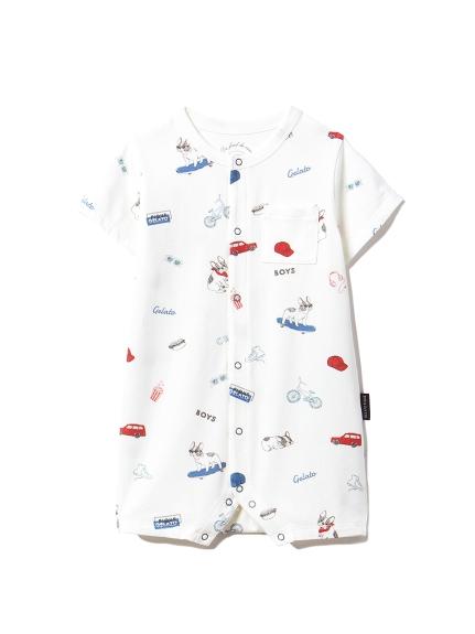 【BABY】ボーイズモチーフ baby ロンパース