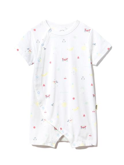 【BABY】シロクマフルーツ baby ロンパース(BLU-70)