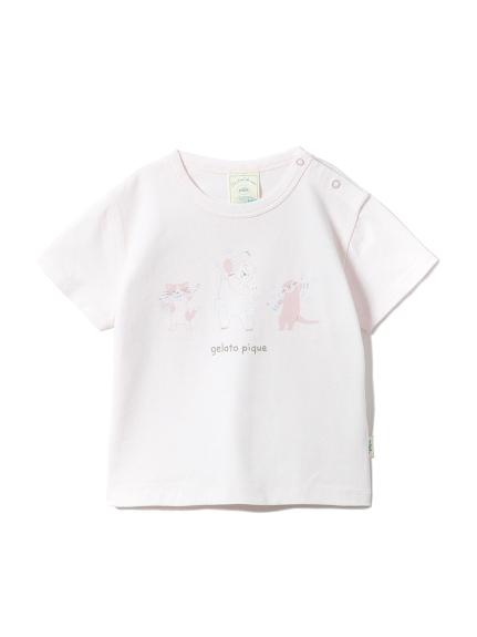 【BABY】アニマルバスタイムワンポイントbabyTシャツ