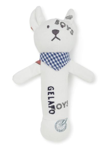 【BABY】ボーイズモチーフ baby ガラガラ(OWHT-F)