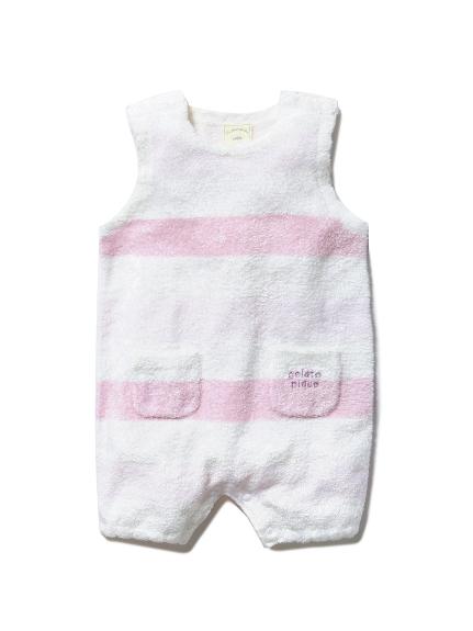 【BABY】'スムーズィー'グラデーションボーダー baby ロンパース(PNK-70)