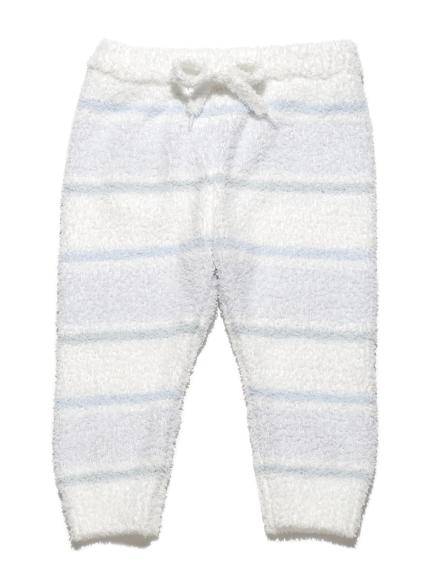 【BABY】'ベビモコ'4ボーダー baby ロングパンツ(BLU-70)