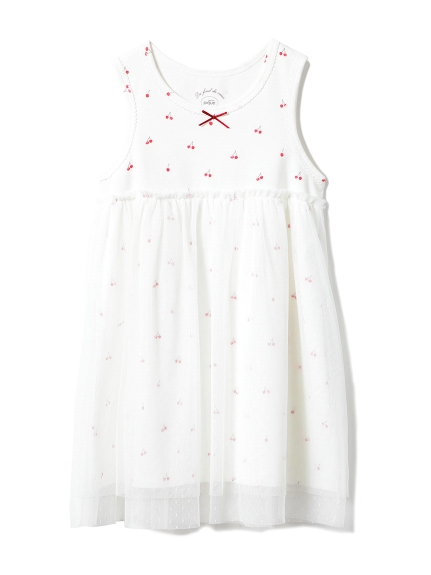 【KIDS】チェリーチュールkidsドレス(OWHT-XXS)