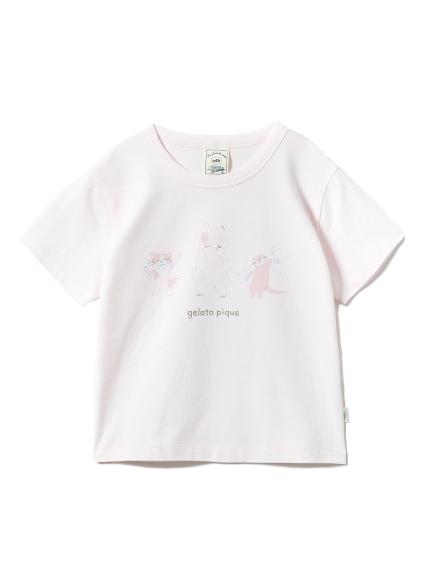 【KIDS】アニマルバスタイムワンポイントkidsTシャツ