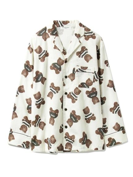 【GELATO PIQUE HOMME】テディベアガラパジャマシャツ(OWHT-M)