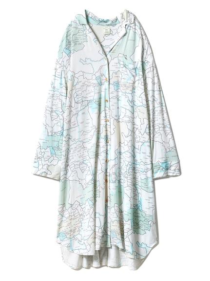 MAPシャツドレス