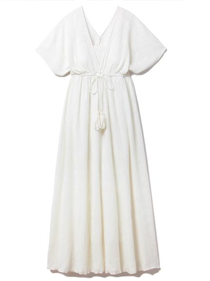 エスニックジャカードロングドレス(OWHT-F)