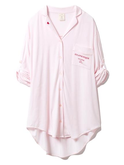 モダールシャツドレス(PNK-F)