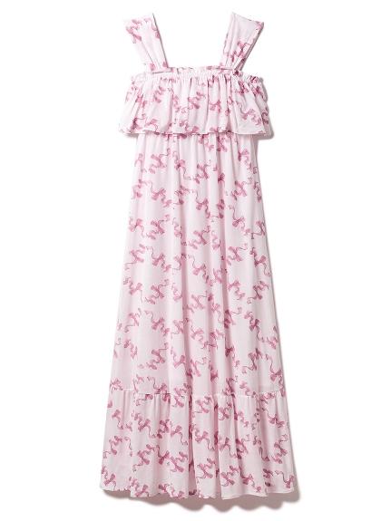 リボンロングドレス
