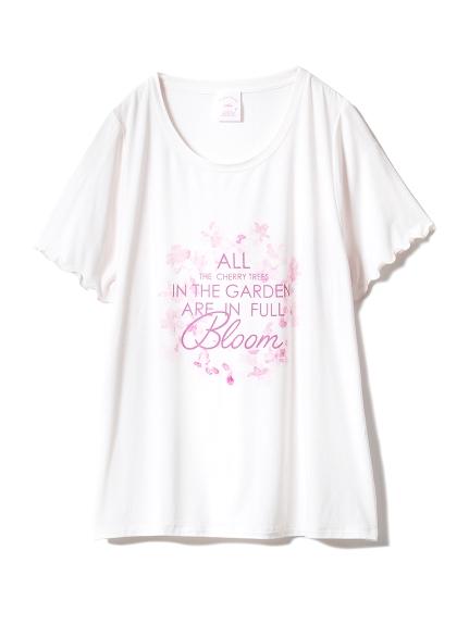 【SAKURA FAIR】チェリーブロッサムワンポイントTシャツ(LPNK-F)