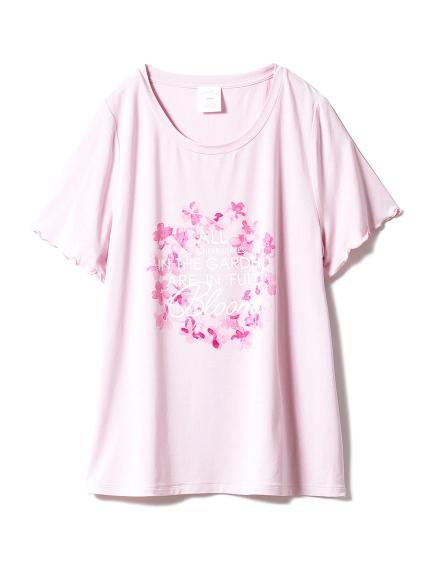 【SAKURA FAIR】チェリーブロッサムワンポイントTシャツ(PNK-F)