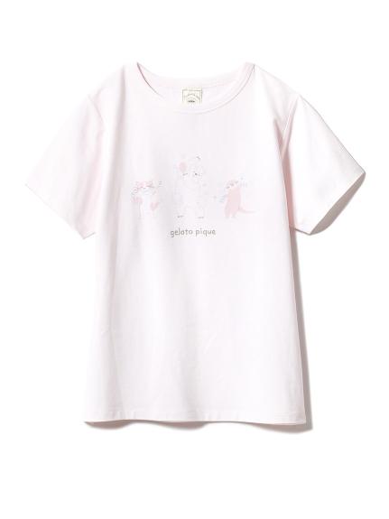 アニマルバスタイムワンポイントTシャツ(PNK-F)