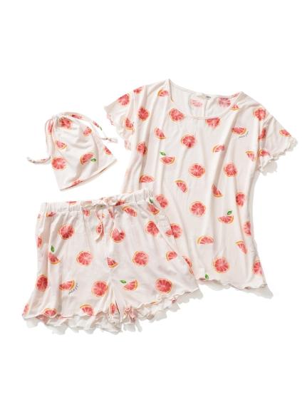 【ONLINE 限定】ピンクグレープフルーツTシャツ&ショートパンツ&巾着SET(PNK-F)