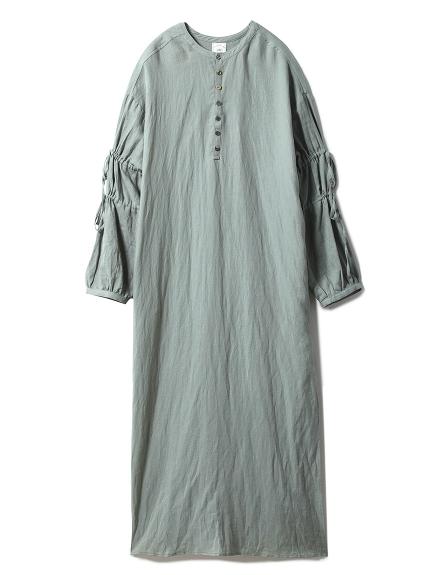 綿麻ストライプドレス
