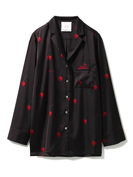 【Joel Robuchon & gelato pique】チェリーサテンシャツ