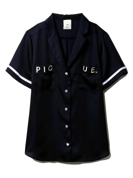 サテンロゴシャツ
